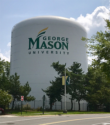 Fairfax Water tank at GMU Mason Fairfax Campus