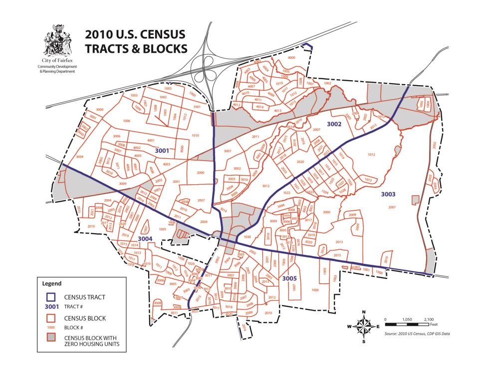 Maps City Of Fairfax VA - Us census block map