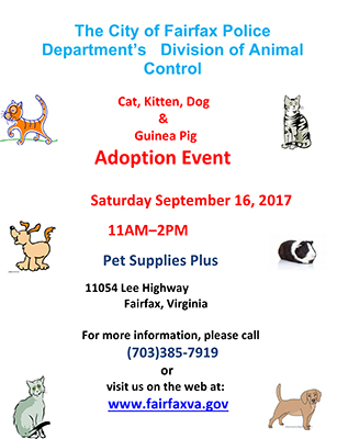 Animal Adoption Event information