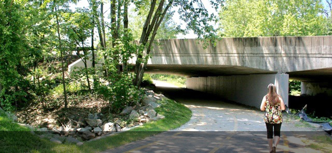 Pickett Road underpass trail