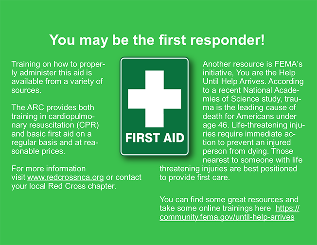 You may be the first responder large graphic