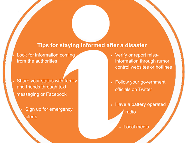 Emergency Management tips for staying informed after disaster