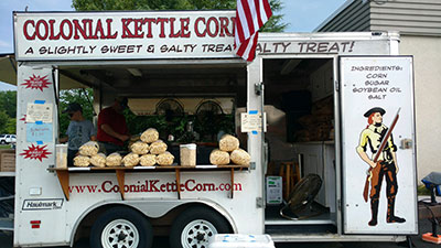 Fairfax History Day Colonial Kettle Corn and food fro sale