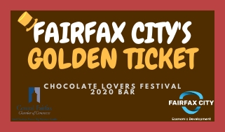 Fairfax City Golden Ticket Sticker