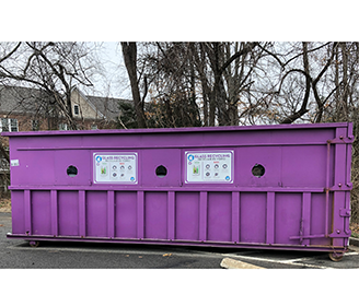Glass-Only Purple Container on Page Avenue is Available For All City Residents