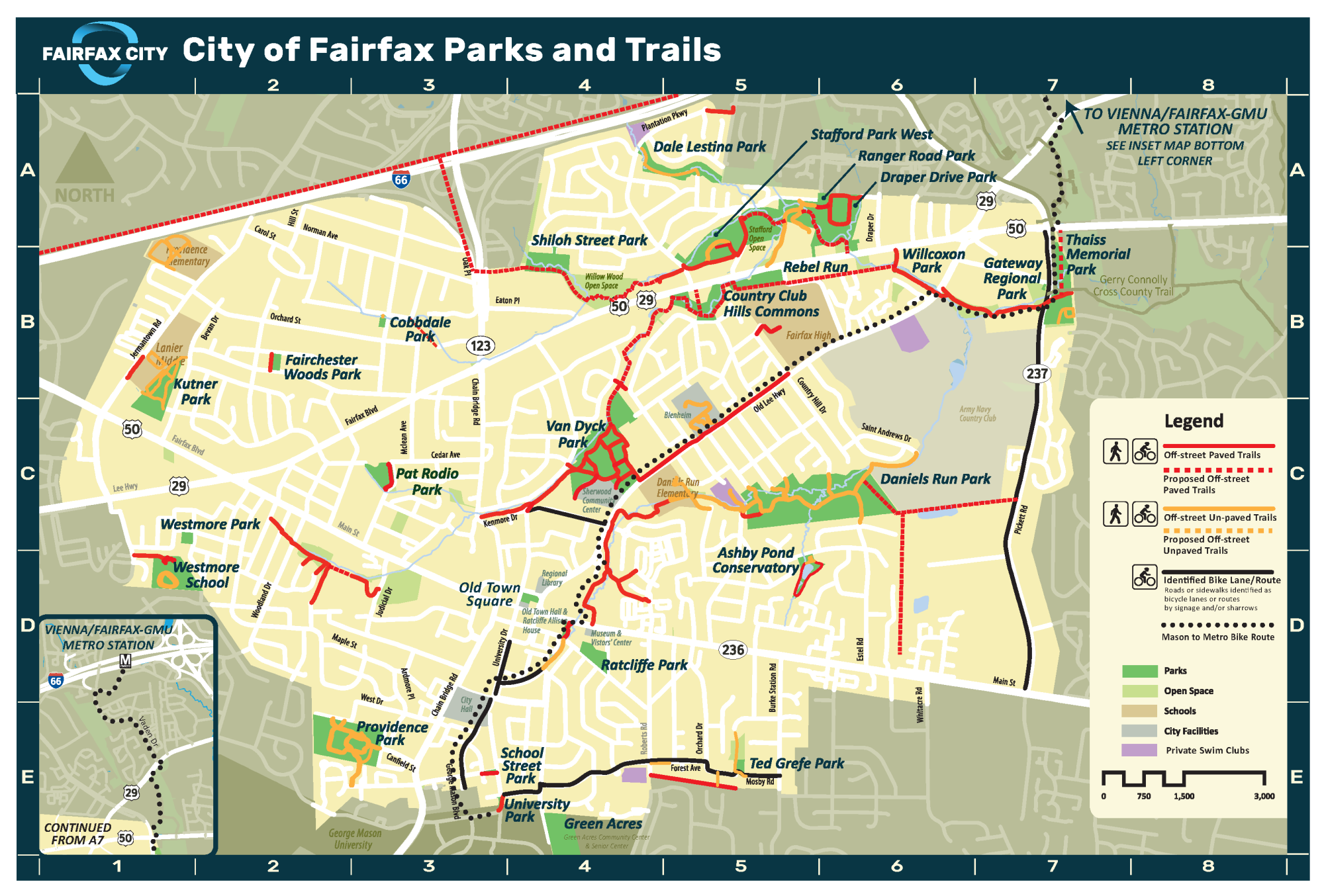 City of Fairfax Trails Map 2020