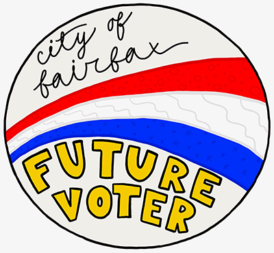 Future voter sticker design