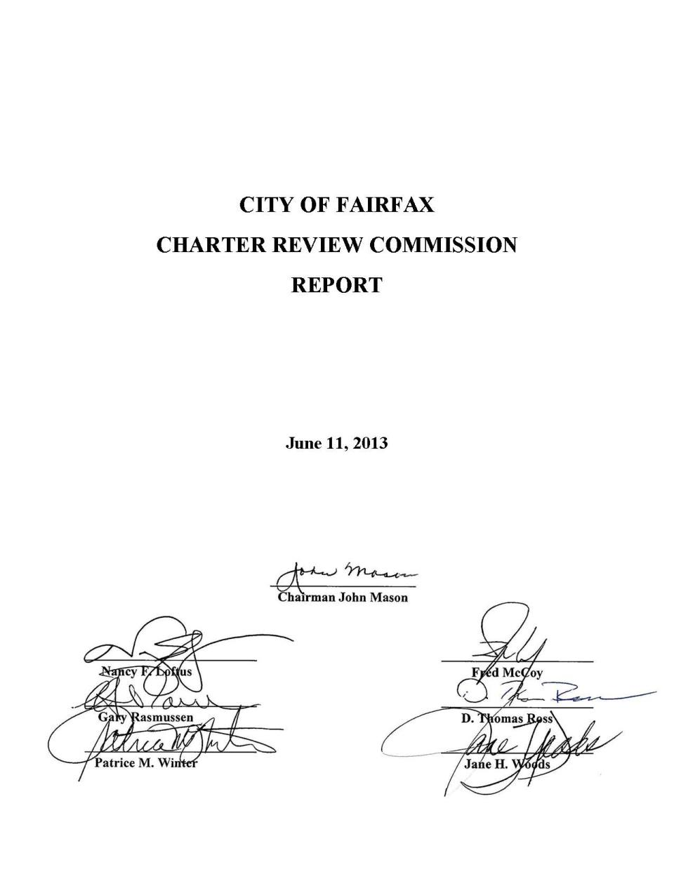 Charter Commission Signature Page