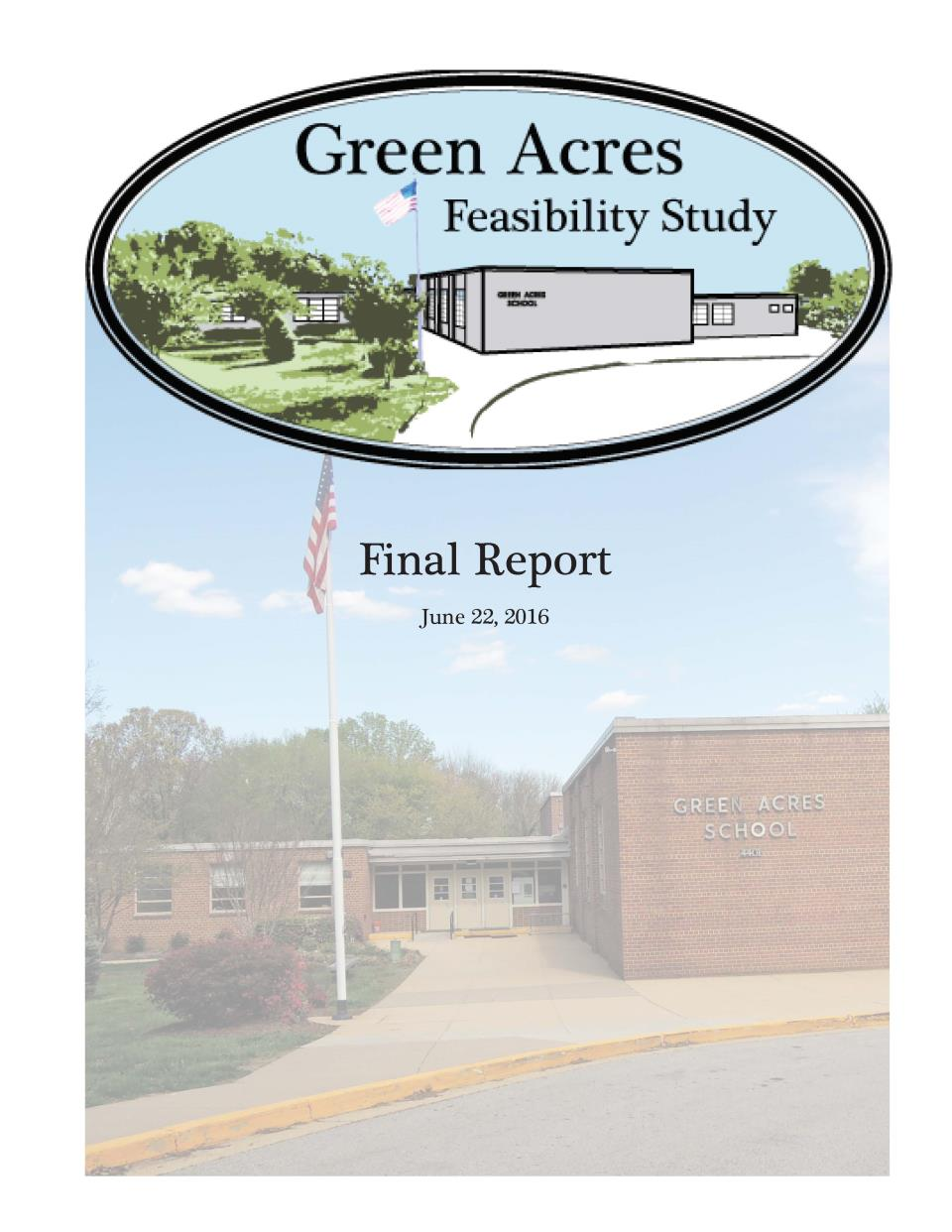 Front cover of Green Acres Feasibility Study