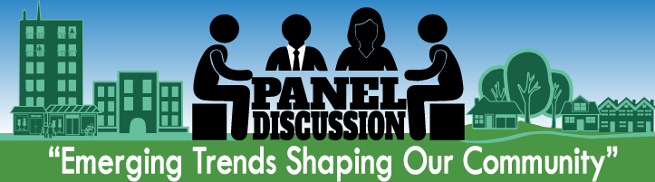 panel discussion rotating banner