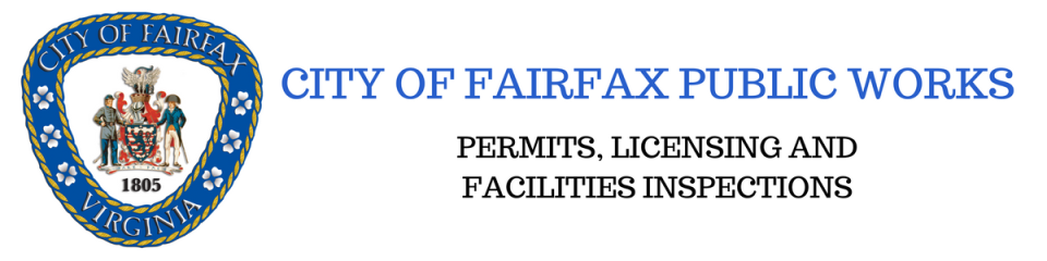 CITY OF FAIRFAX PUBLIC WORKS PERMIT AND LICENSING